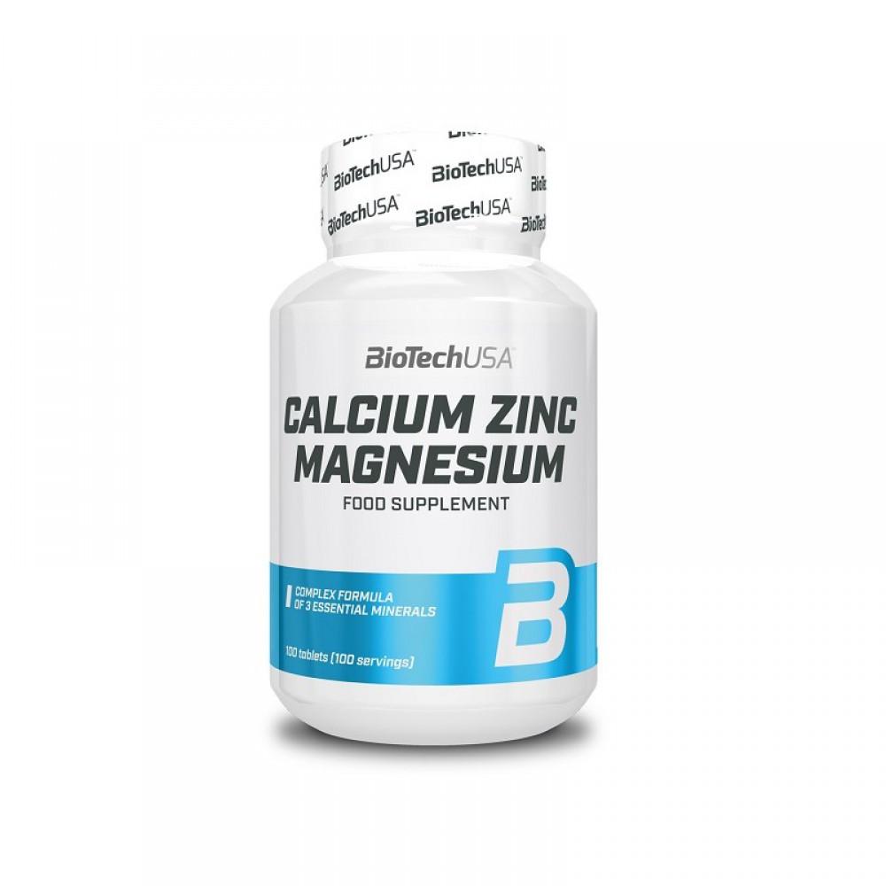 Витамины Calcium Zinc Magnesium BioTech USA (100 табл.)