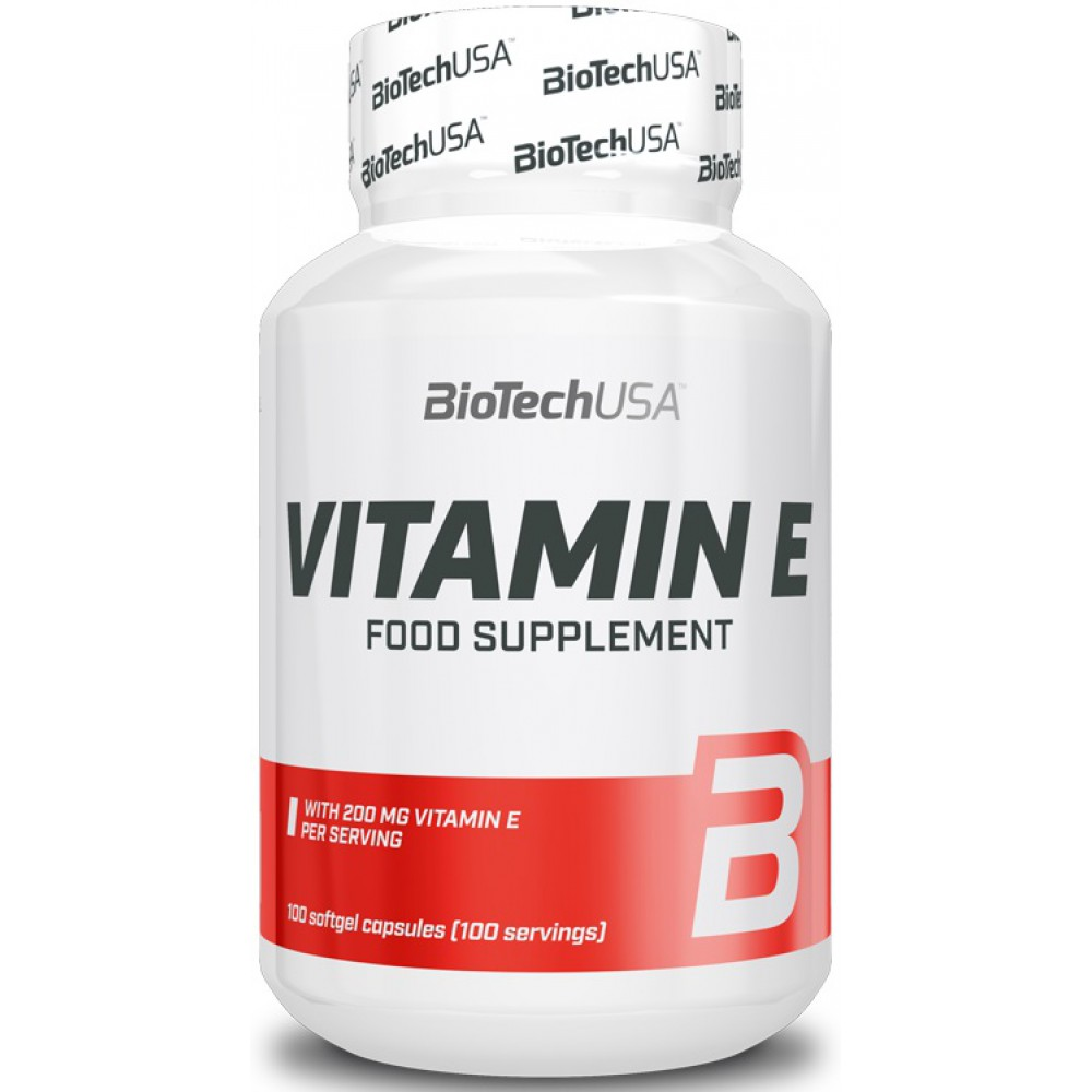 Витамины Vitamin E 200 mg BioTech USA (100 капс.)