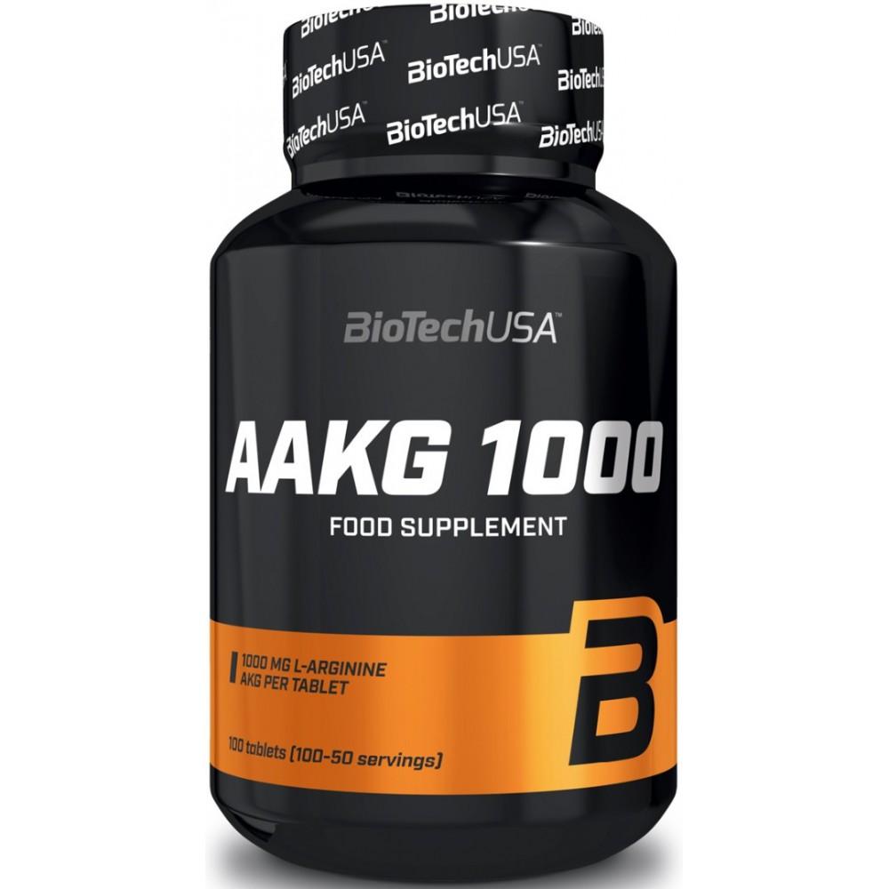 Аргинин AAKG 1000 BioTech USA (100 табл.)
