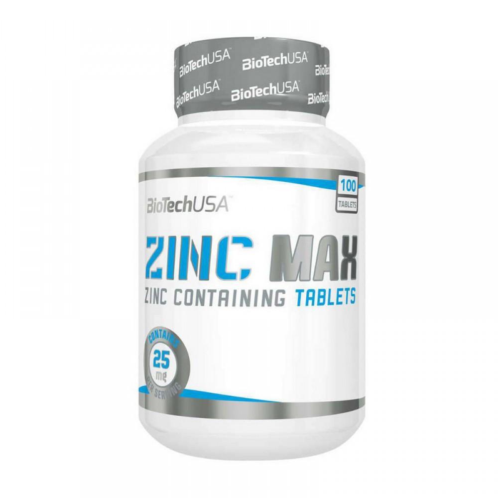 Витамины Zinc MAX 100 BioTech USA (100 табл.)