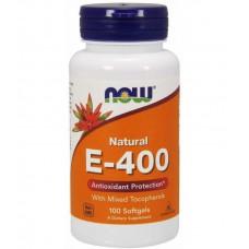 Natural E-400 Mixed Tocopherols NOW (100 капс)