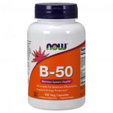 Vitamin B-50 NOW (100 капс)