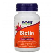 Biotin 1000 mcg NOW (100 капс)