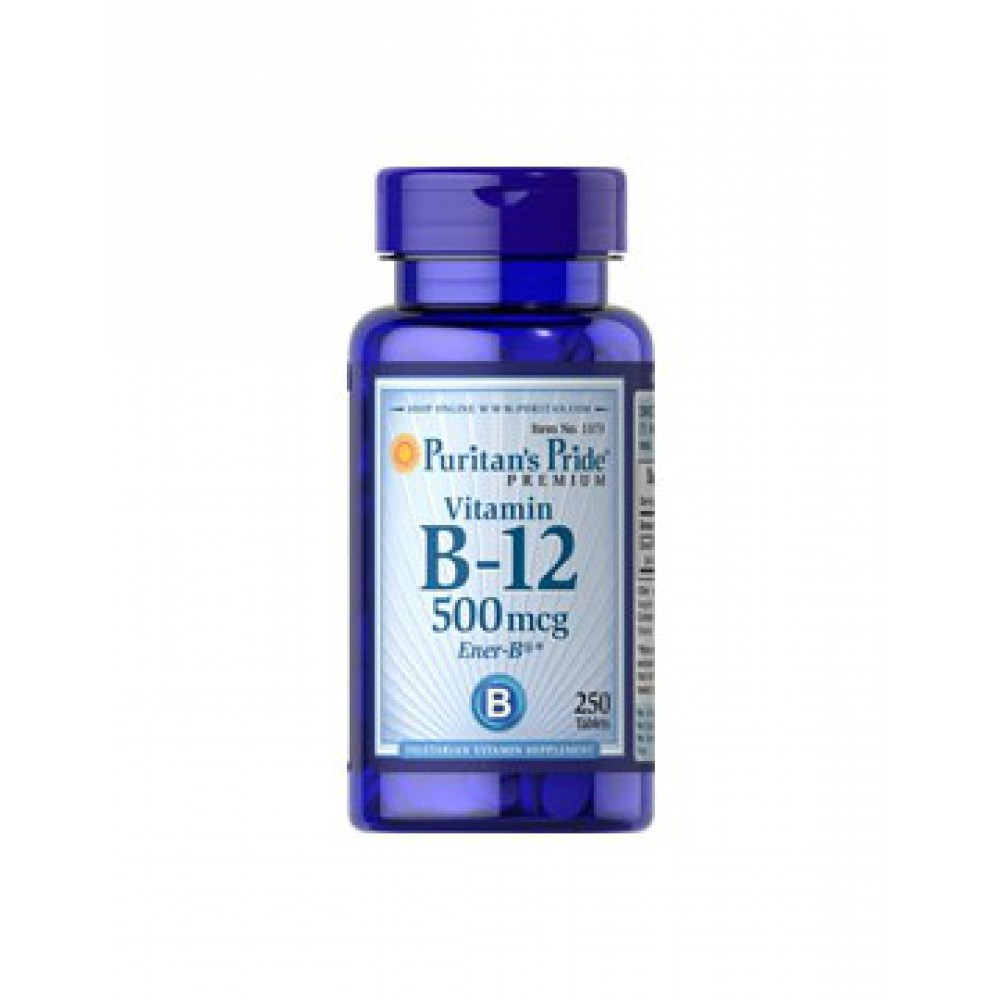 Vitamin B-12 500 mcg 250 Caplets