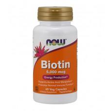 Biotin 5000 mcg NOW (60 капс)