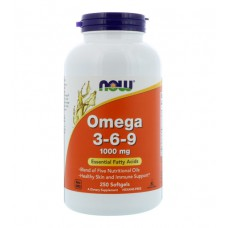 Omega 3-6-9 1000 NOW (250 капс)