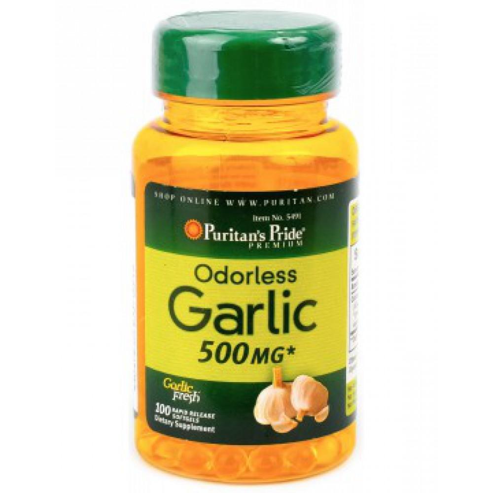 Odorless Garlic 500 mg 100 Capsules