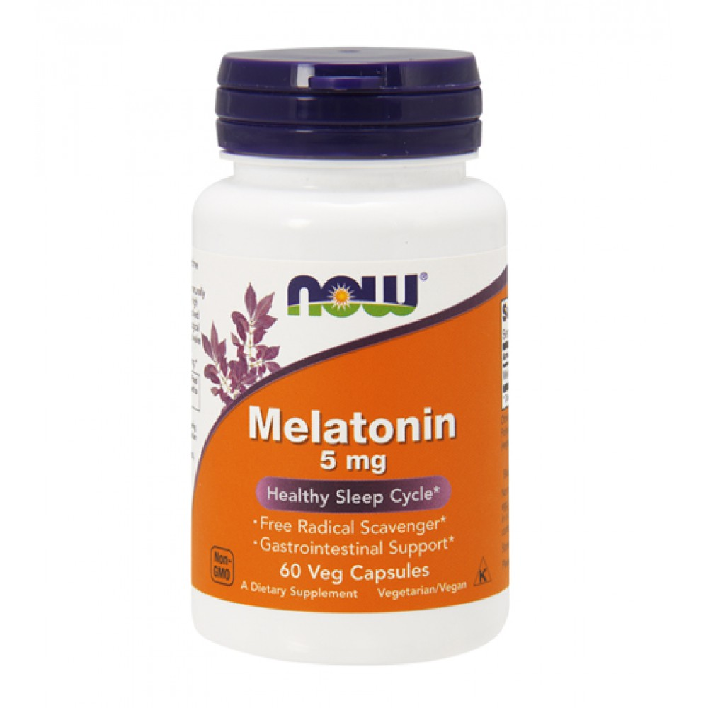 Melatonin 5 mg NOW (60 капс)