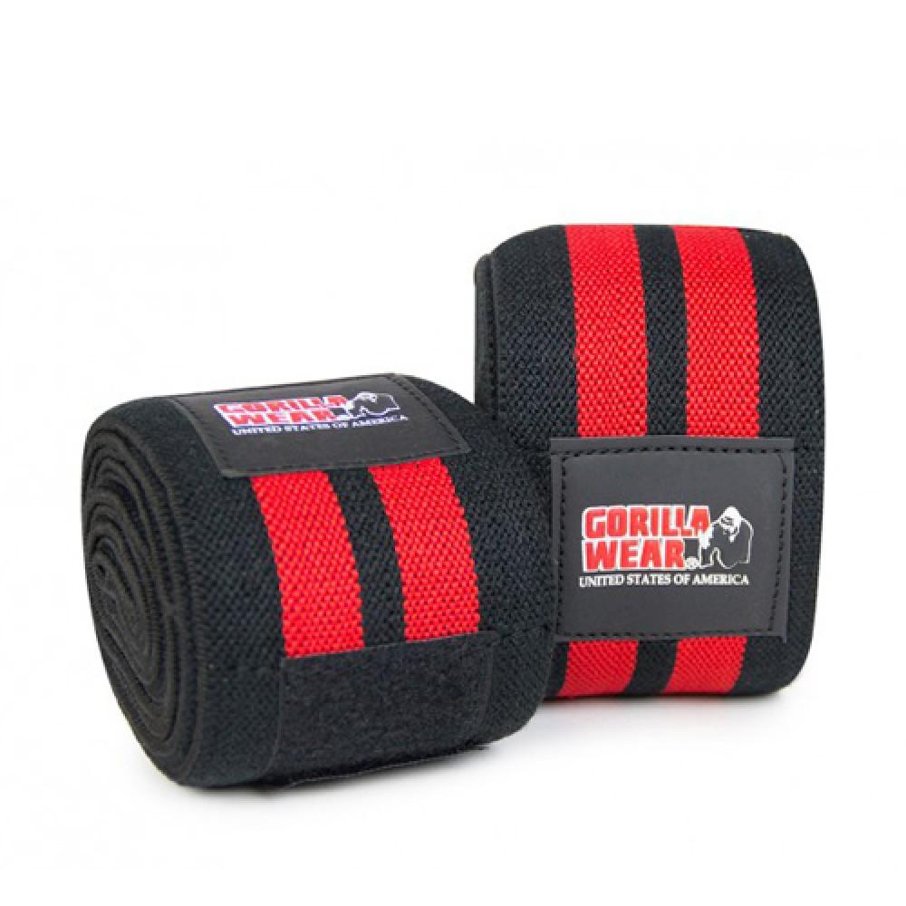 Бинты коленные Knee Wraps 98 Inch Gorilla Wear Black/Red