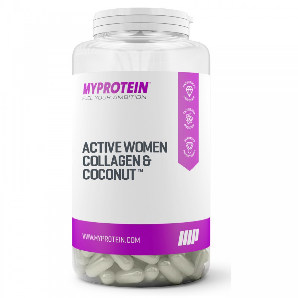 Active Woman Collagen Coconut With Vitamin C MyProtein (180 капс)
