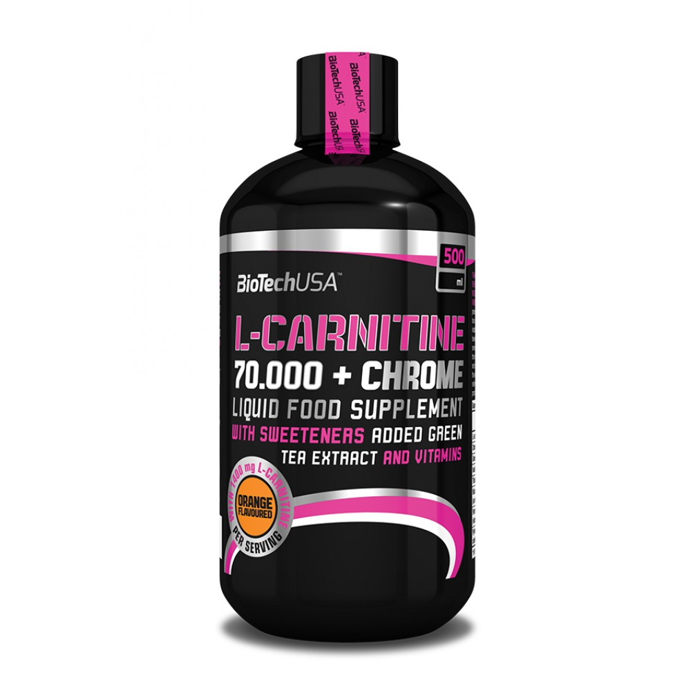 L-карнитин L-Carnitine 70.000 + Chrome BioTech USA (500 мл)