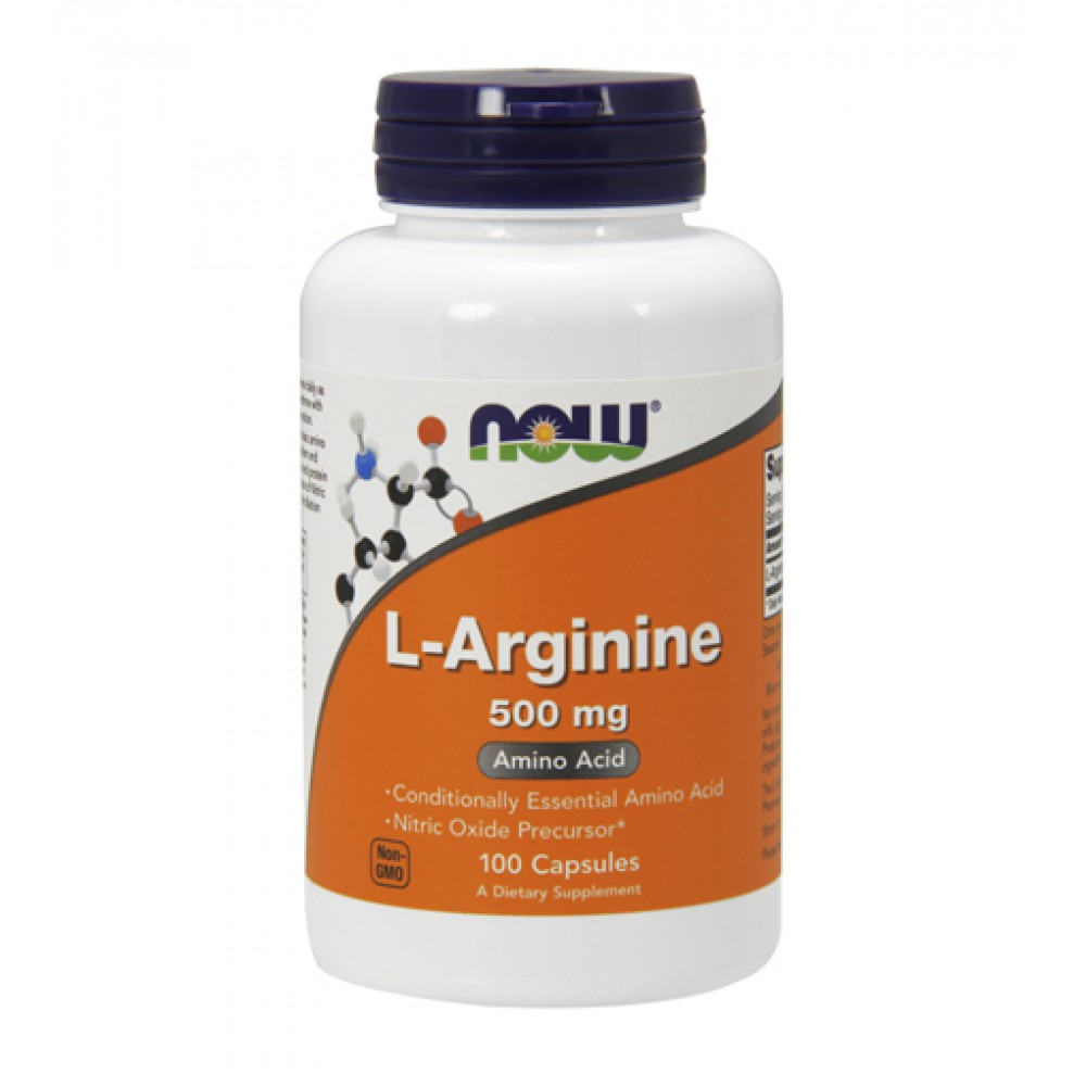 L-Arginine 500 mg NOW (100 капс)