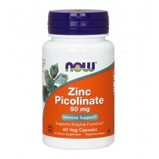 Zinc Picolinate 50 mg NOW (60 капс)
