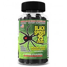 Жиросжигатель Black Spider Ephedra Cloma Pharma (100 капс)