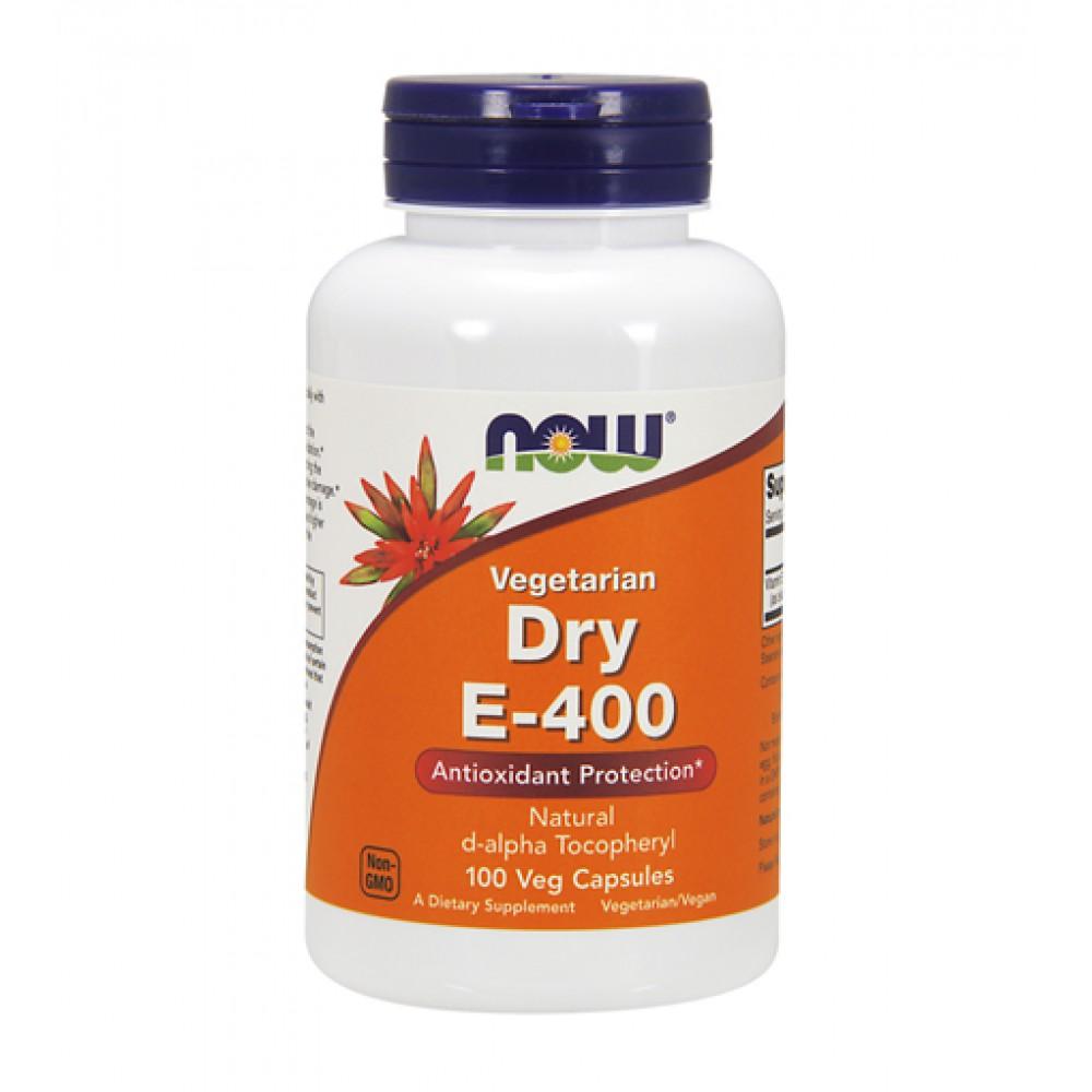 Vitamin E 400 Dry NOW (100 капс)