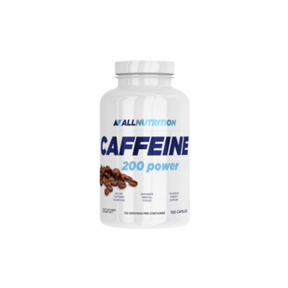 Caffeine 200 power All Nutrition (100 кап)
