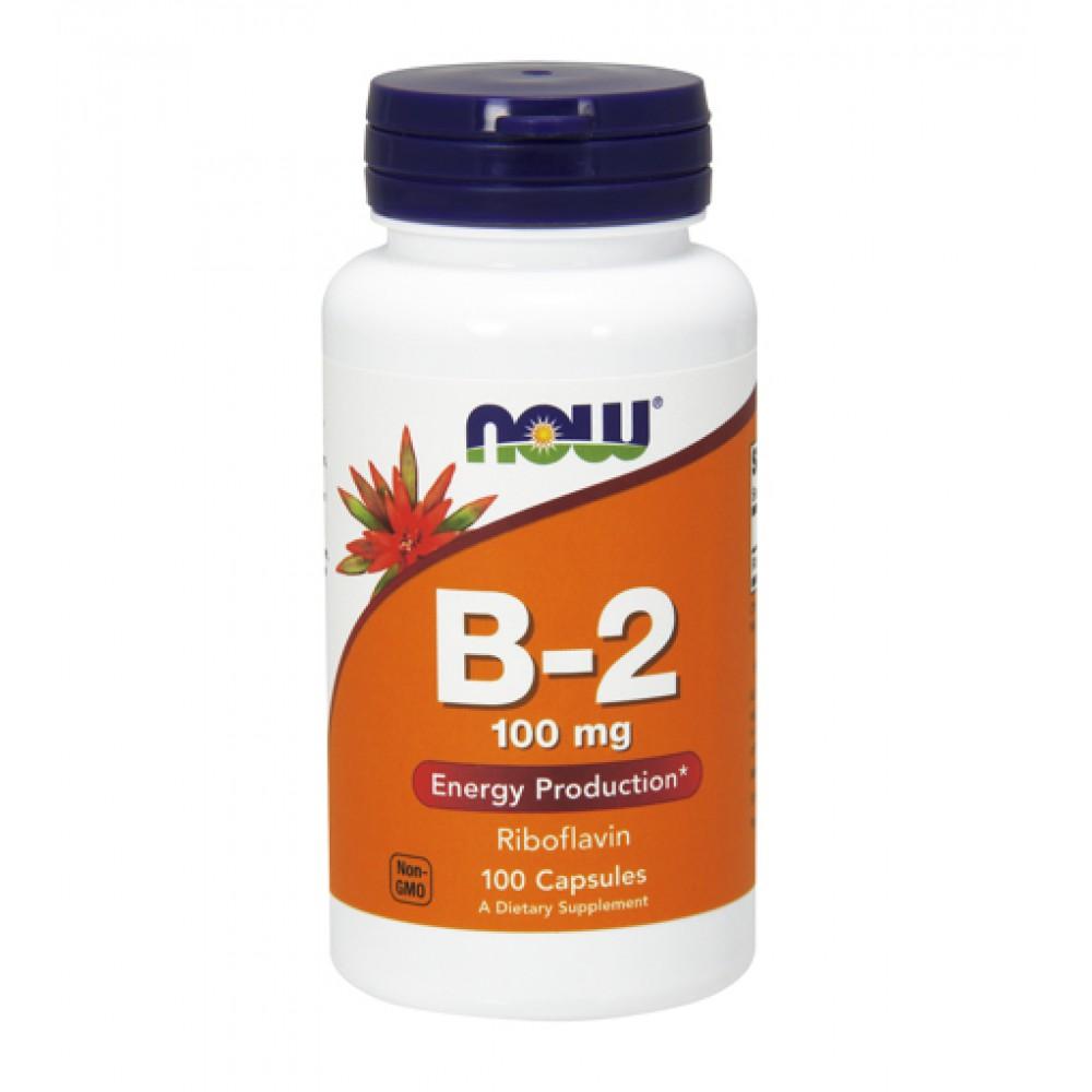 Vitamin B-2 (Riboflavin) 100 mg NOW (100 капс)