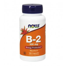 Vitamin B-2 (Riboflavin) 100 mg NOW (100 капс)