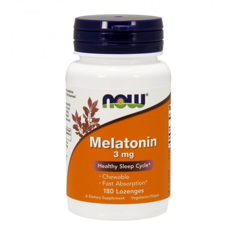 Melatonin 3 mg NOW (180 леденцов)