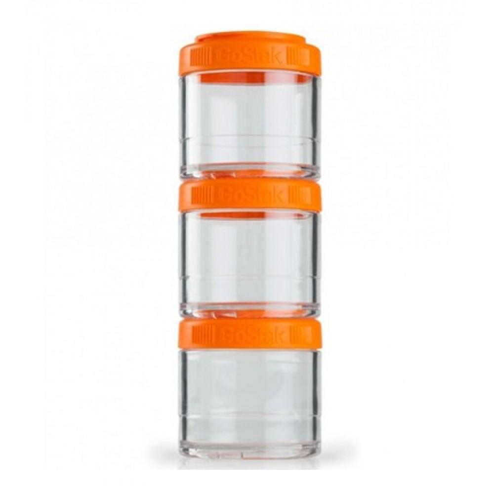 Контейнеры GoStak 3 Pak Blender Bottle оранжевые (3 x 100 мл)