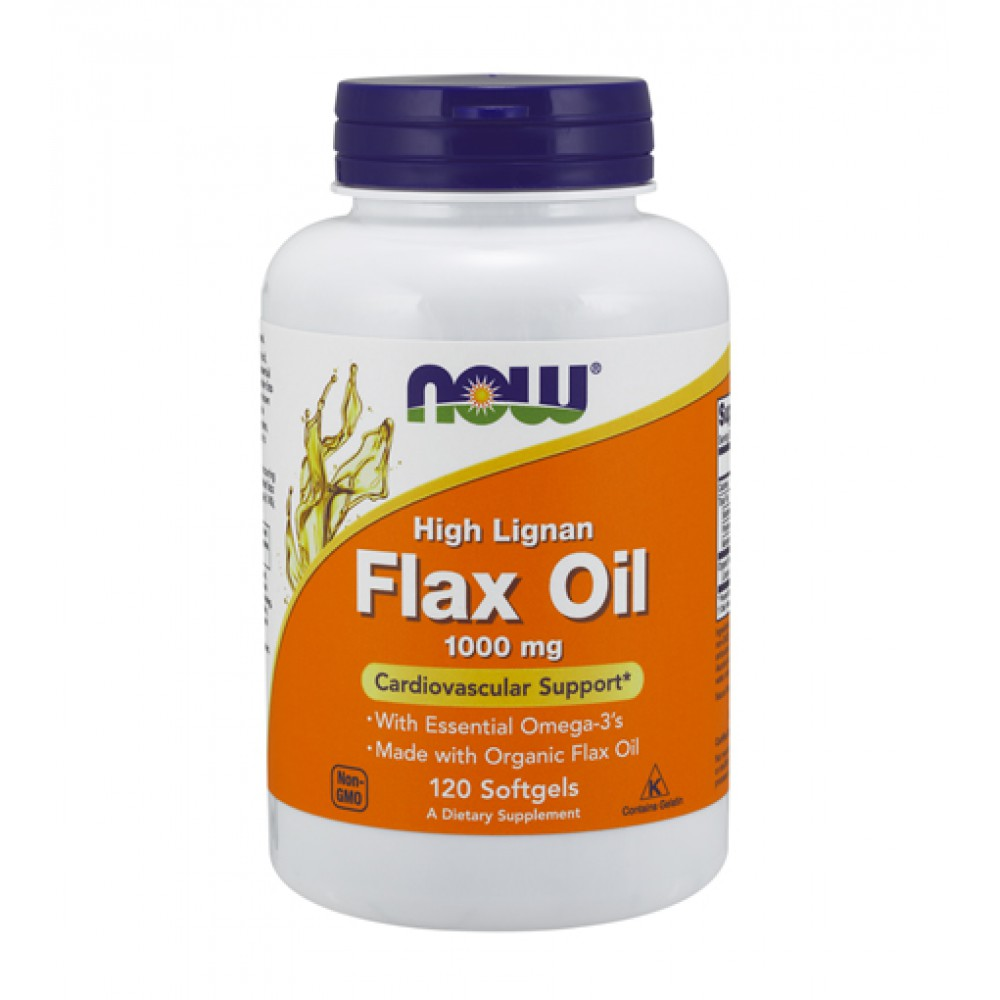 Flax Oil High Lignan NOW (120 капс)