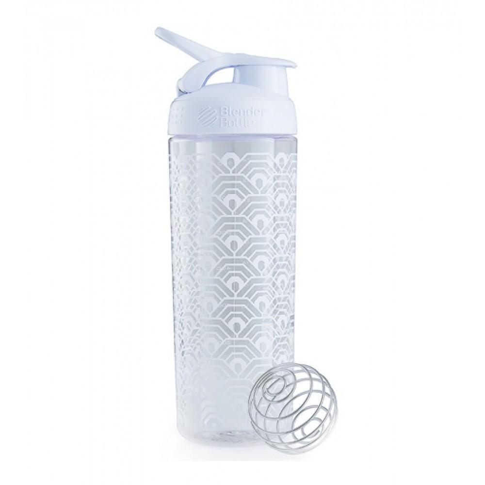 Шейкер Sleek Clamshel Blender Bottle белый (820 мл)
