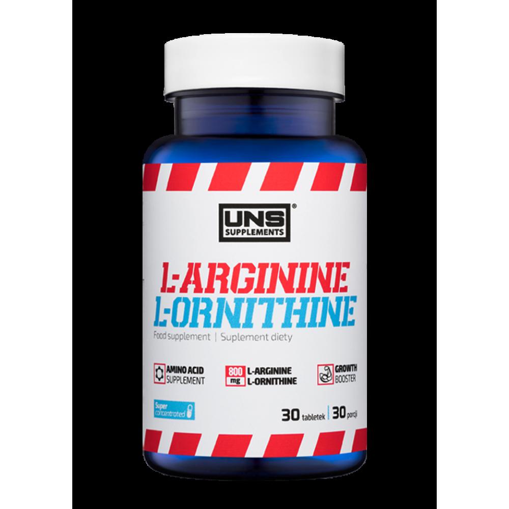 L-arginine & L-ornitine UNS Supplements (30 табл)