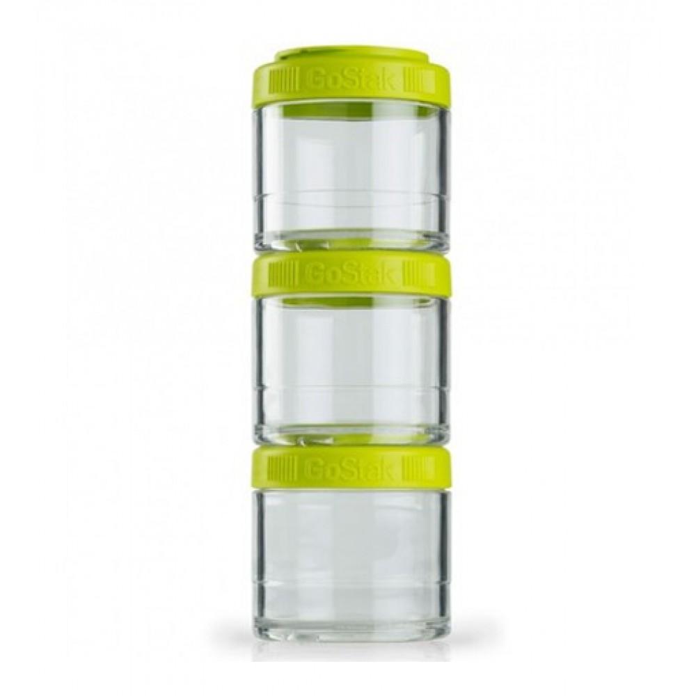 Контейнеры GoStak 3 Pak Blender Bottle зеленые (3 x 100 мл)