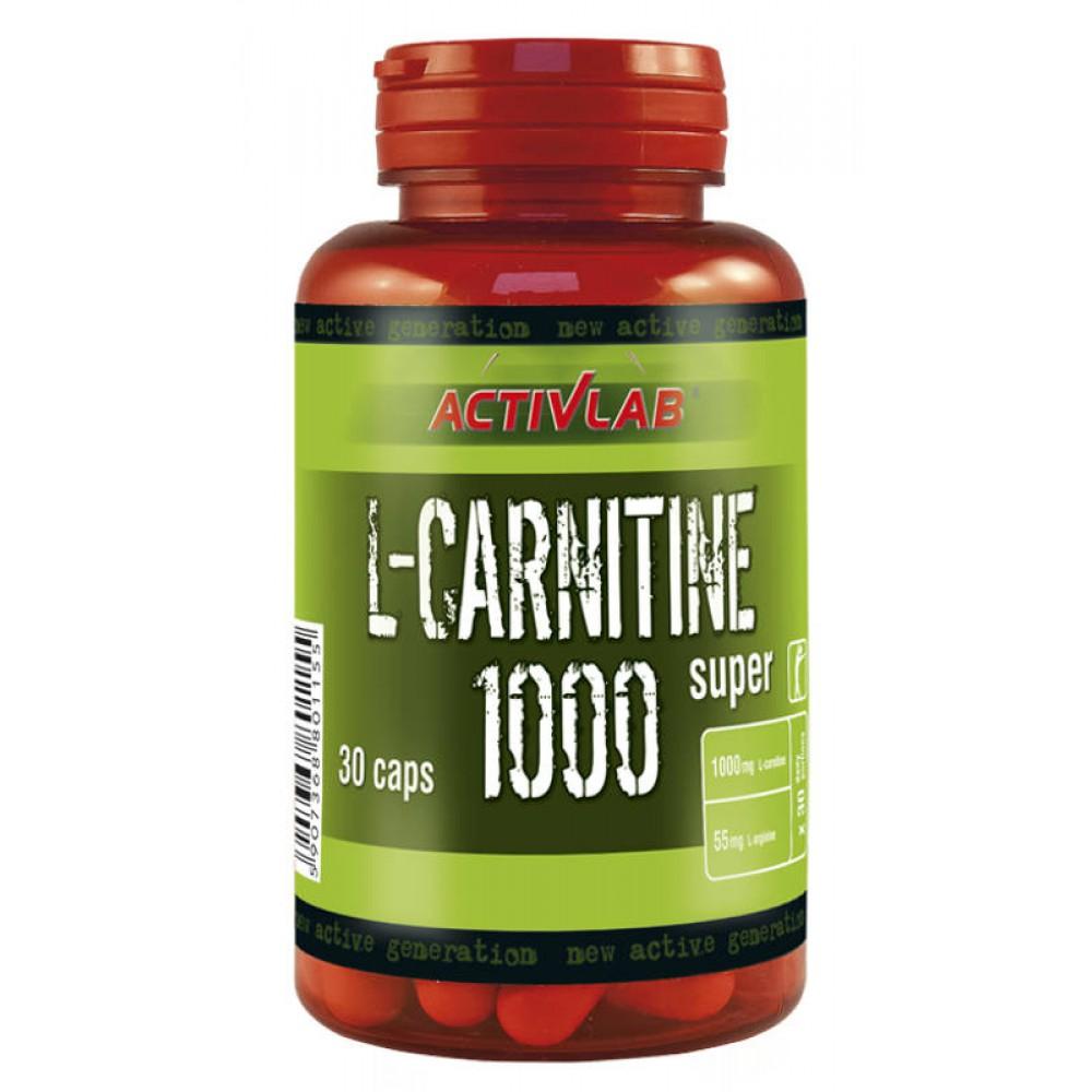 L-карнитин L-Carnitine 1000 Activlab (30 капс)