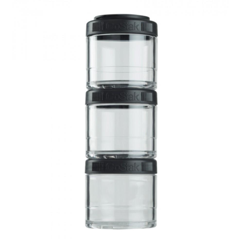 Контейнеры GoStak 3 Pak Blender Bottle черные (3 x 100 мл)