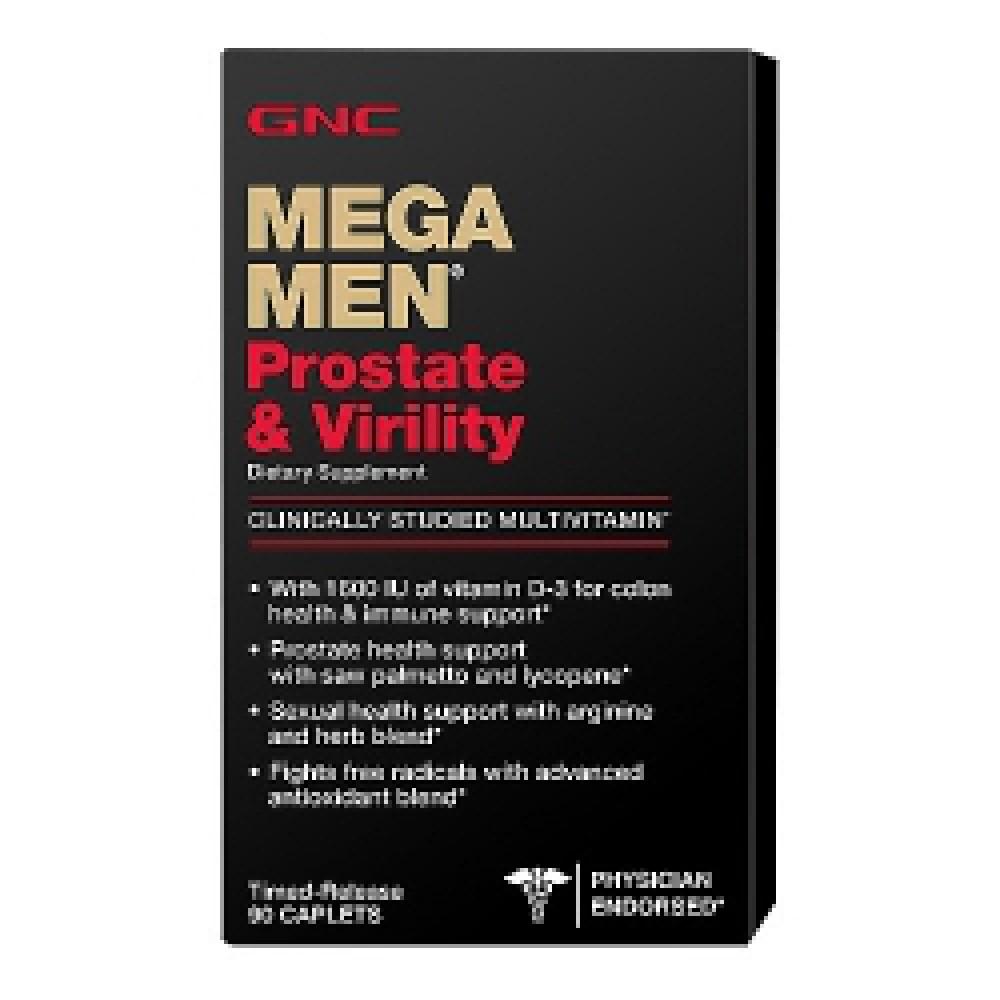 MEGA MEN PROSTATE & VIRTILITY Gnc (90 капс)