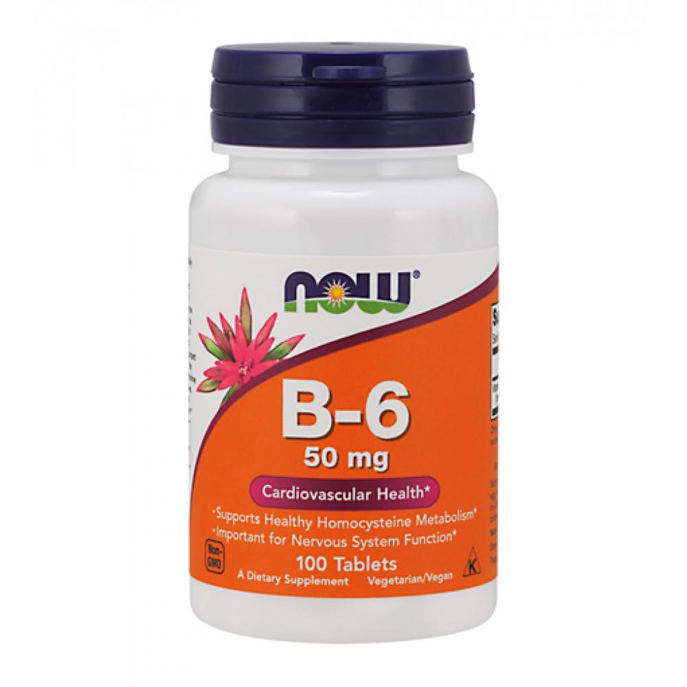 Vitamin B-6 50 mg NOW (100 табл)