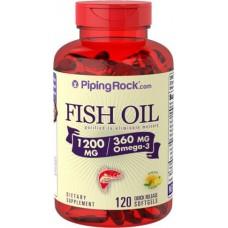 Omega-3 Fish Oil 1200 mg Piping Rock (120 капс)