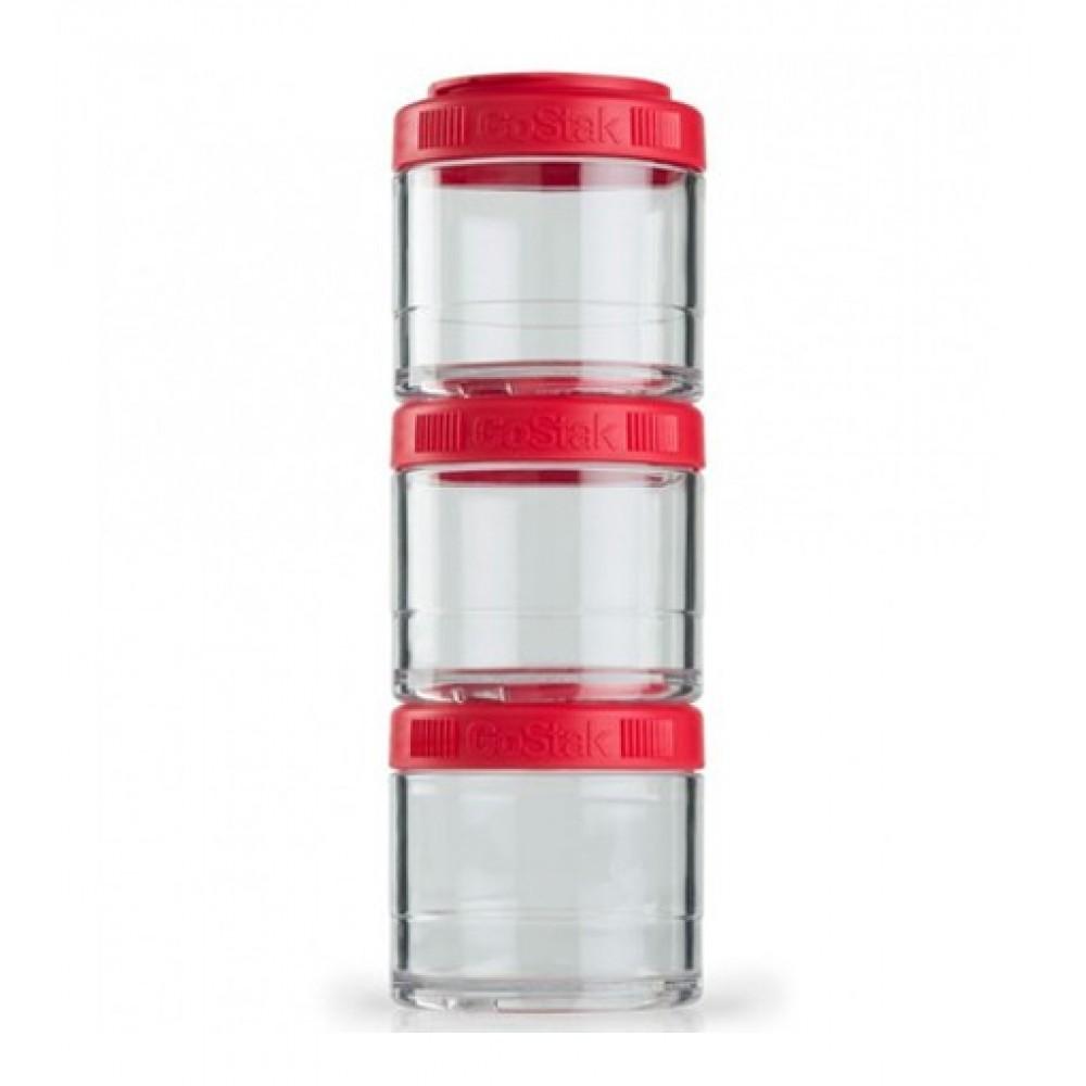 Контейнеры GoStak 3 Pak Blender Bottle красные (3 x 100 мл)