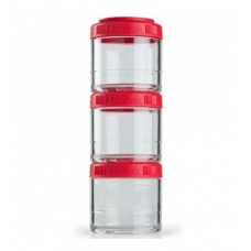 Контейнеры GoStak 3 Pak Blender Bottle красные (3 x 100 мл)