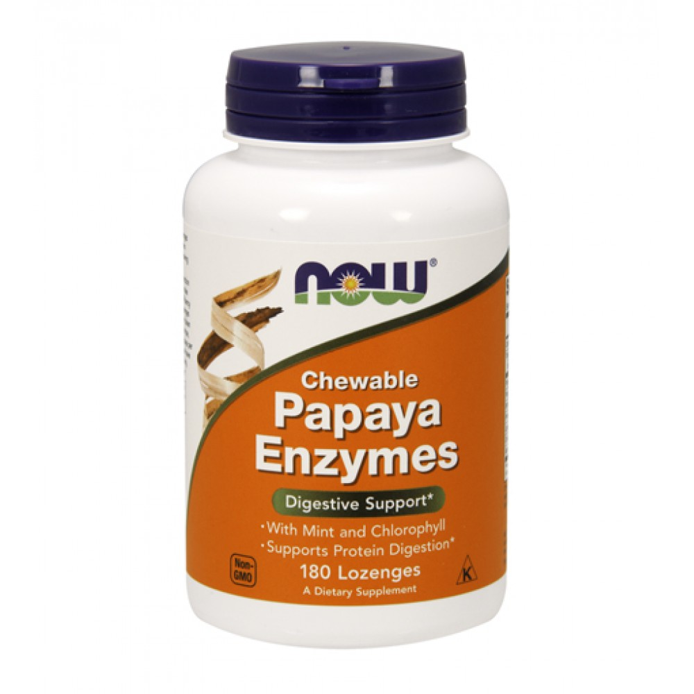 Papaya Enzyme NOW (180 леденцов)
