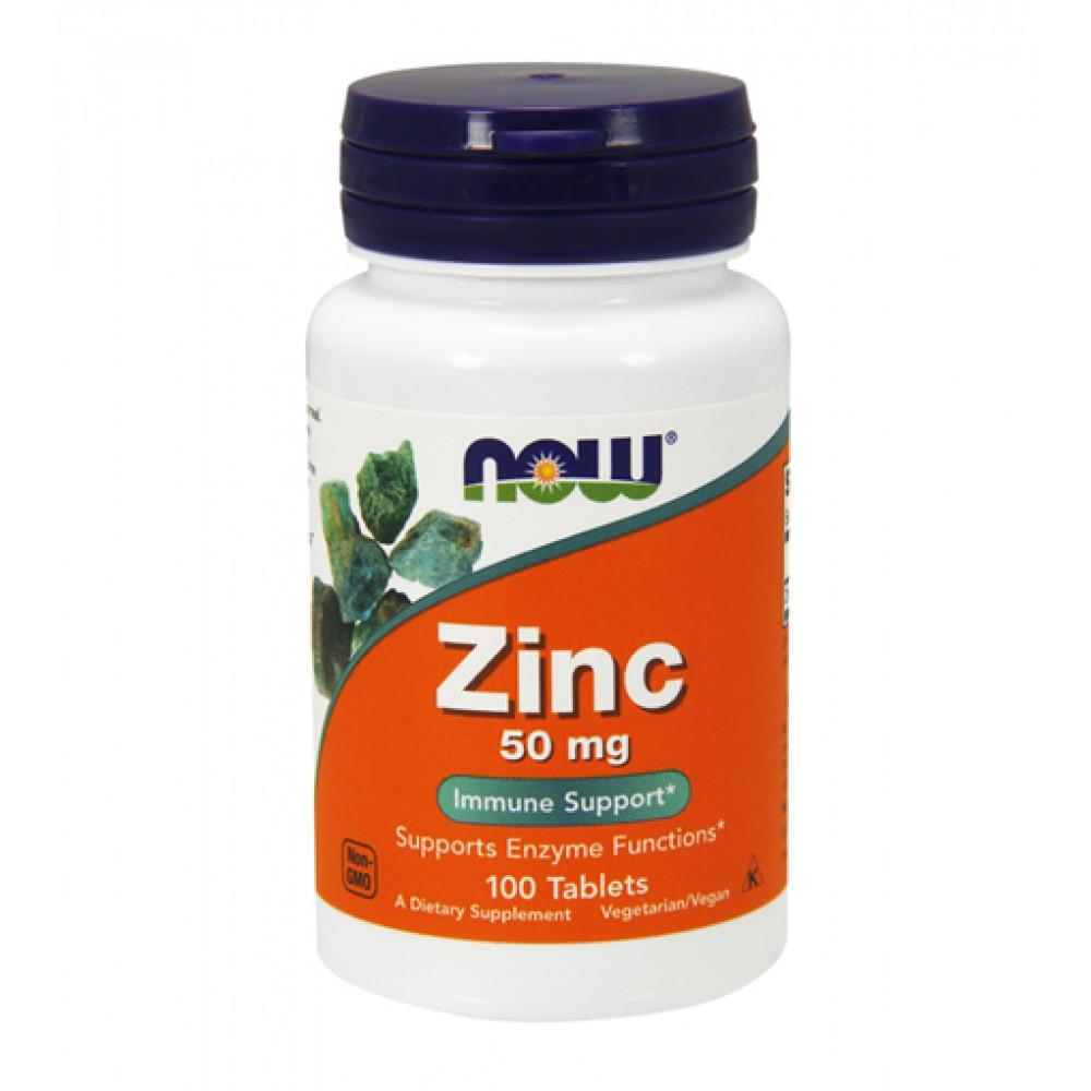 Zinc 50mg NOW (100 табл)