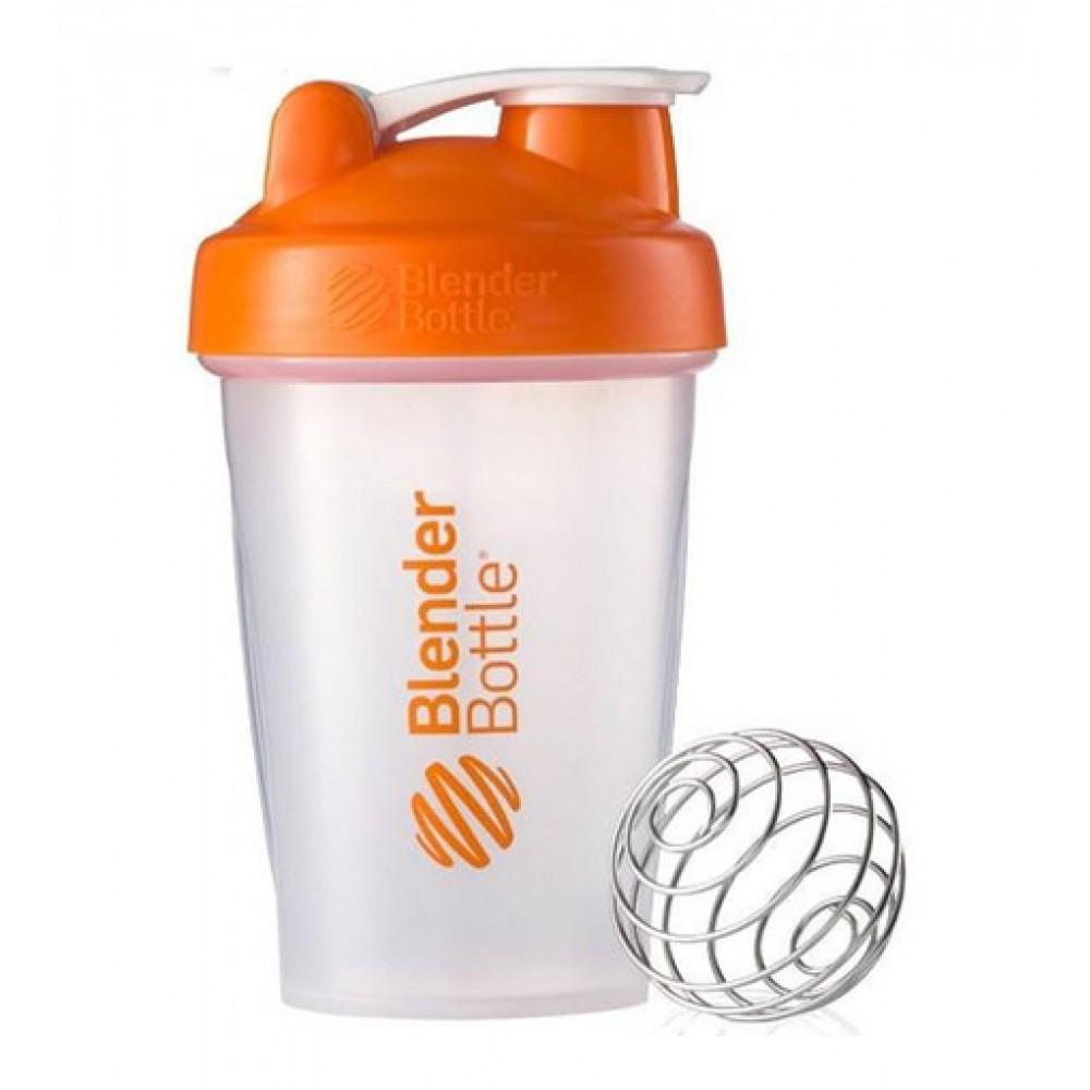 Шейкер Classic Blender Bottle прозрачный-оранжевый (590 мл)