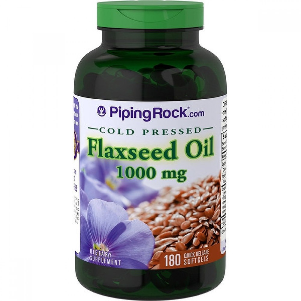 Flaxseed Oil 1000 mg Piping Rock (180 капс)
