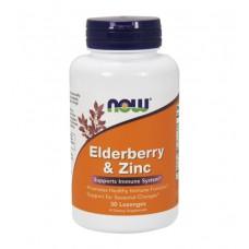 Elderberry & Zinc NOW (30 леденцов)