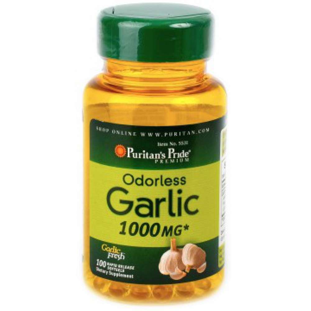 Odorless Garlic 1000 mg 100 Capsules