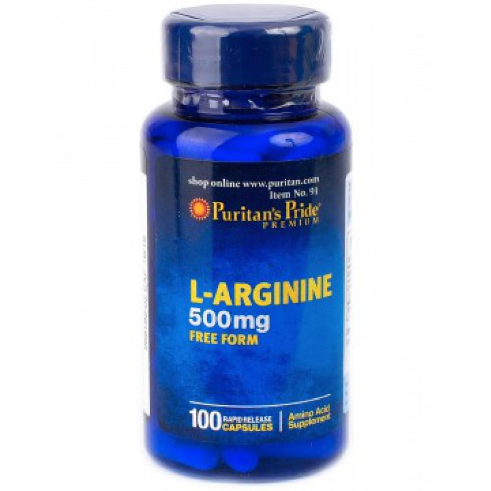 L-arginine 500 mg 100caps
