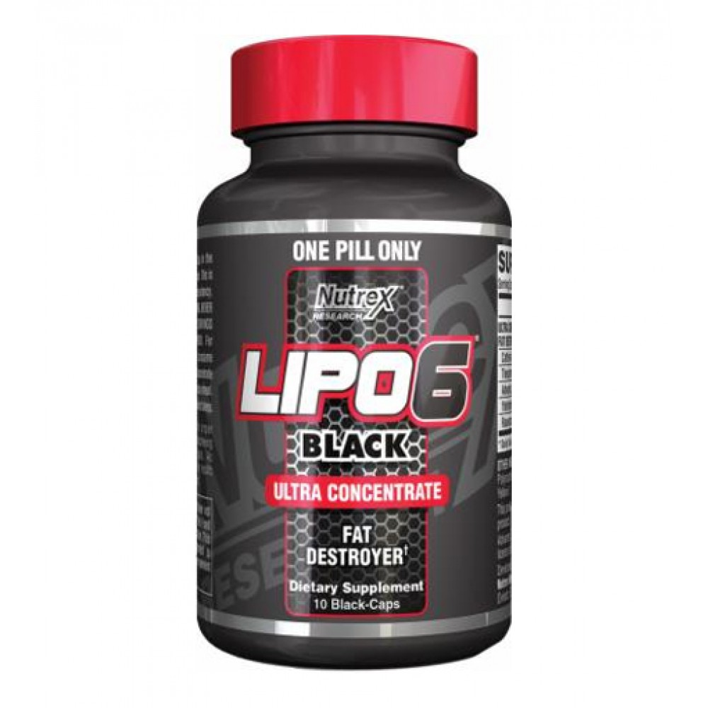 Lipo-6 Black Ultra Concentrate Nutrex Research (10 капс)