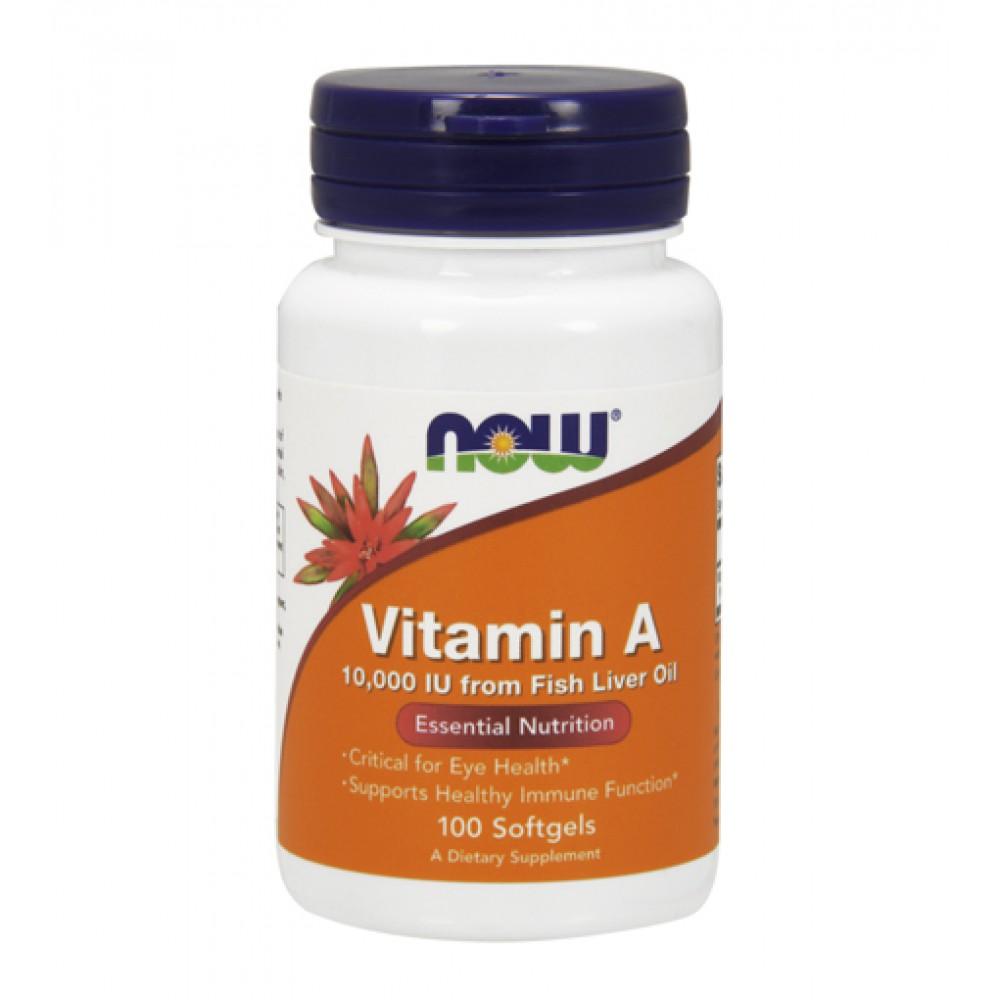 Vitamin A 10000 IU NOW (100 капс)