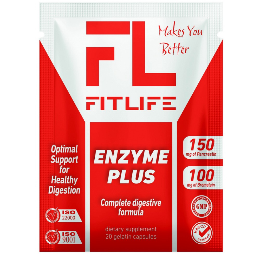 Enzyme Plus FitLife Nutrition (20 капс)