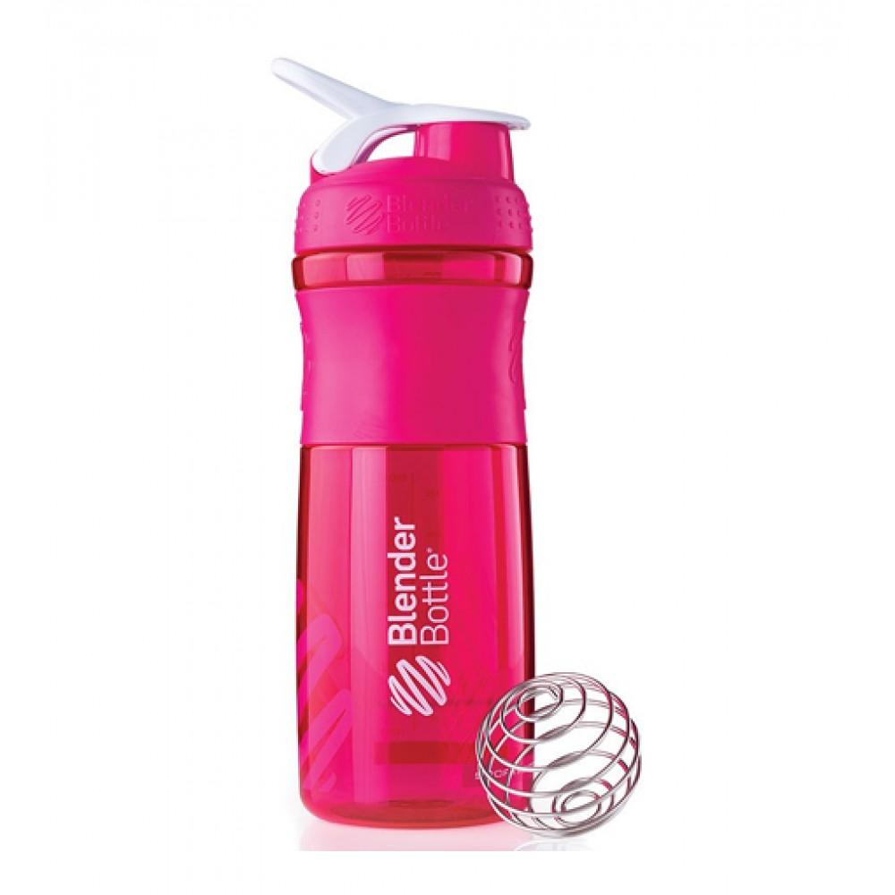 Бутылка Sportmixer Blender Bottle бело-розовая (760 мл)