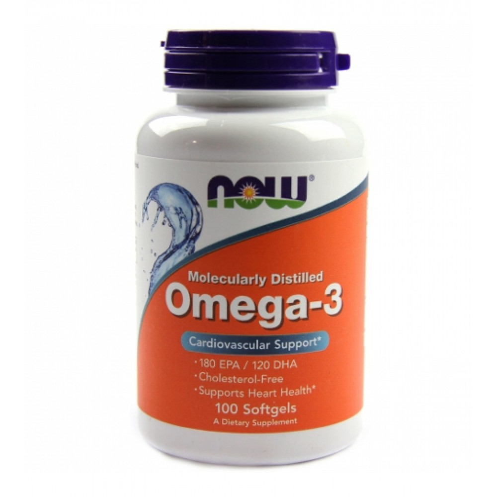 Omega 3 Molecularly Distilled NOW (100 капс)