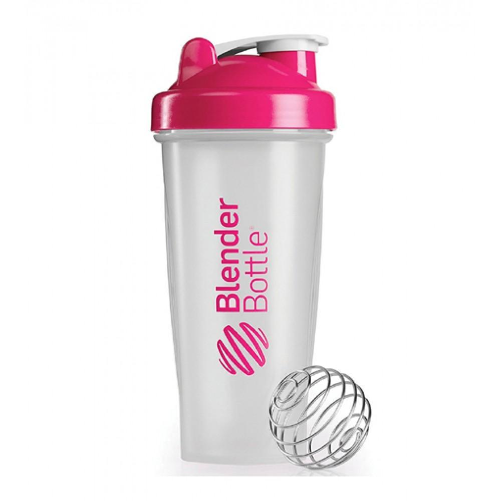 Шейкер Classic Blender Bottle прозрачный-розовый (820 мл)