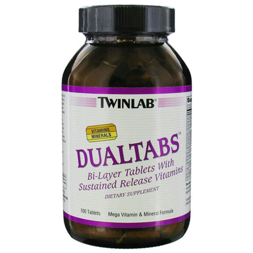 Витамины Dualtabs Twinlab 100 табл