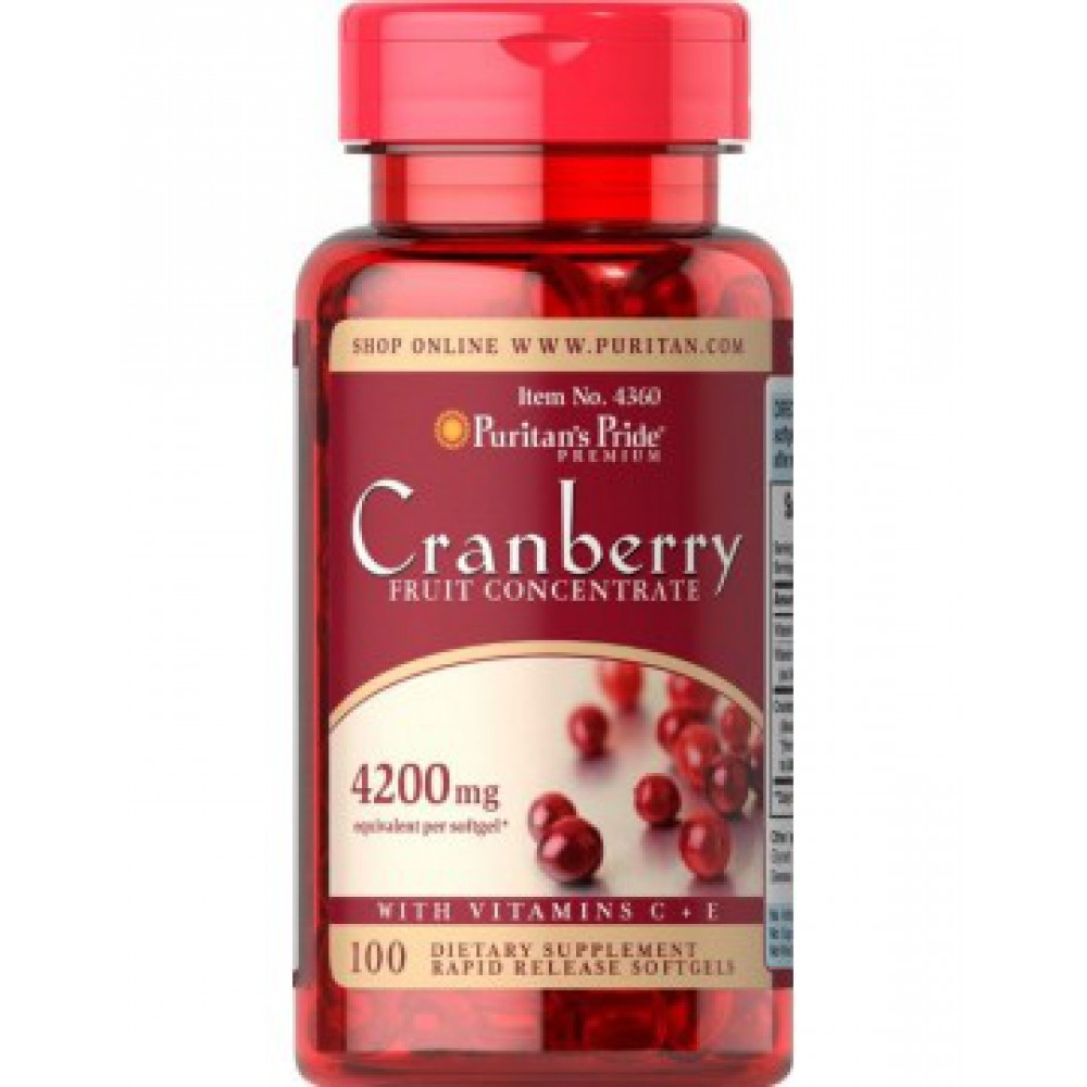 Cranberry Fruit Concentrate with C & E 4200 mg 100 Softgels